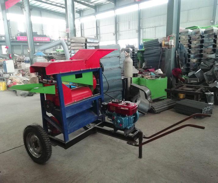 corn peeler thresher machine